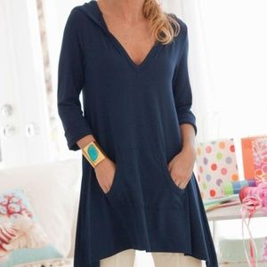 Soft Surroundings Go To Tunic Hooded Casual